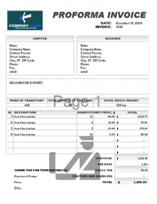 factura pro-forma exportacion importacion
