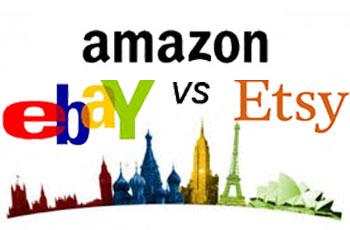 amazon versus ebay versus etsy