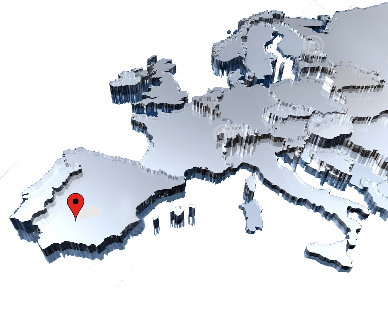 europe-map-3d-pin | Spain order fulfillment - Virtual ...